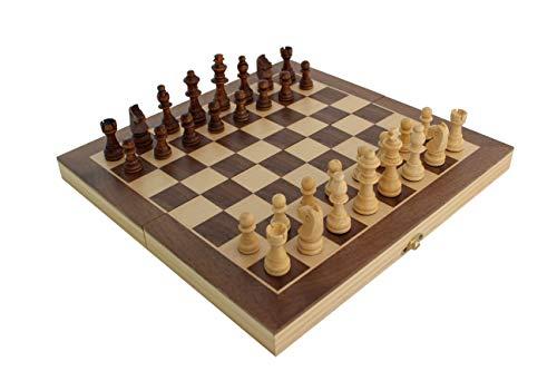 ecope Schachspiel   magnetisches Schachbrett   Spielkassette und Figuren aus Holz