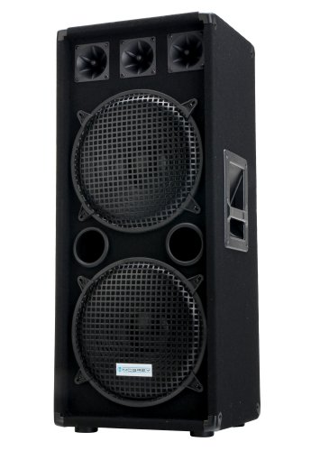 "McGrey DJ-2222 2-Etagen DJ PA Lautsprecher Box 2x 30cm (12"") Subwoofer 1000W (Passiv, 2-Wege System, Holzgehäuse)"