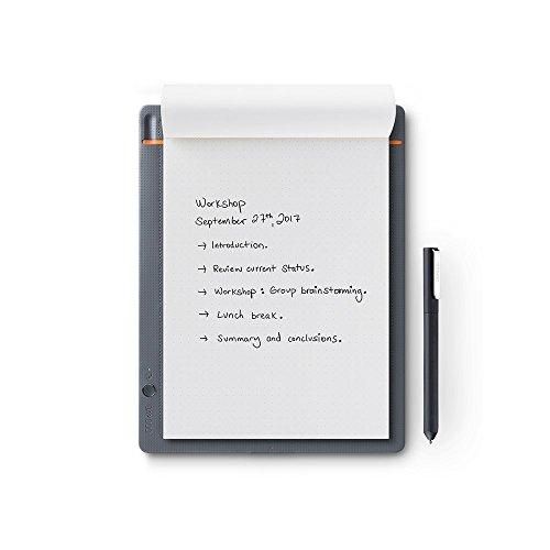 Wacom Bamboo Slate Smartpad A5 / Kleines Notepad mit Digitalisierungs-Funktion inkl. Eingabestift mit Kugelschreibermine / Kompatibel mit Android und Apple