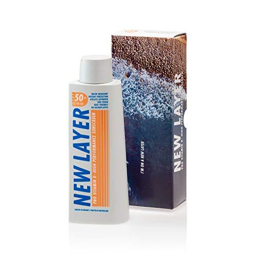 NEW LAYER Sonnencreme | LSF 50+ | Pro Vitamin D | Wasserfest | Reef-friendly (200ml)