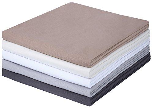 GREEN MARK Textilien Klassische Bettlaken   Betttuch   Laken   Leintuch   Haustuch 100% Baumwolle ohne Gummizug vielen Größen und Farben Größe:150x250 cm, schwarz