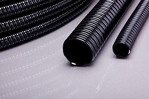 Aquaristikwelt24 Teichschlauch 10 Meter Länge 38 mm 1 1/2' schwarz Top Qualität Rolle Spiralschlauch PVC lichtundurchlässig Pumpe Filter