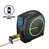 Massband Laser Entfernungsmesser, Hanmer Entfernungsmesser Digital,Maßband Laser Messgerät Entfernung mit LCD Hintergrundbeleuchtung