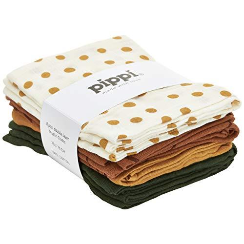 pippi Unisex Baby 8er Pack Windeln mit verschiedenen Motiven Badebekleidungsset, Mehrfarbig (Adobe 213), (Herstellergröße:70x70)