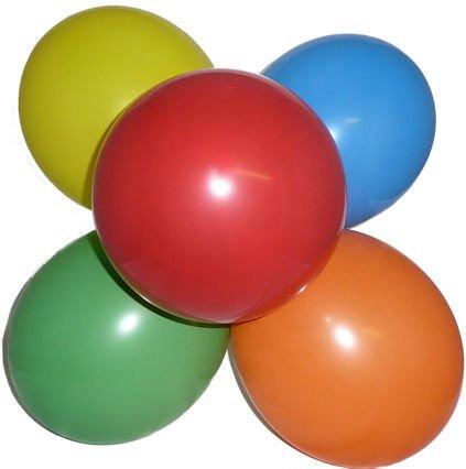 Bunte einfarbige Luftballons - 100er Pack