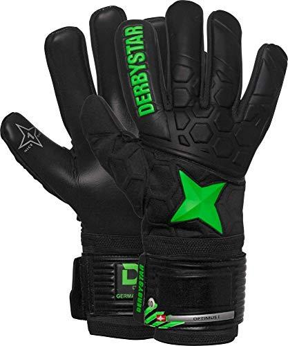 Derbystar Optimus Torwarthandschuhe Unisex, schwarz Gruen, 10