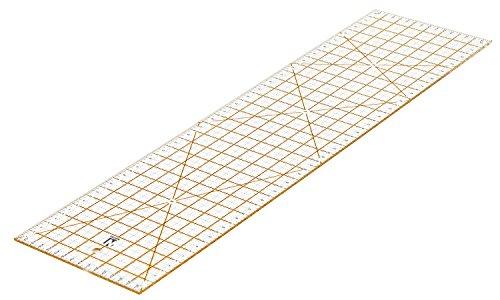 WINTEX Universal-Lineal 16 cm x 60 cm, transparent | 2 Jahre Zufriedenheitsgarantie | Rollschneider-Lineal, Patchwork-Lineal
