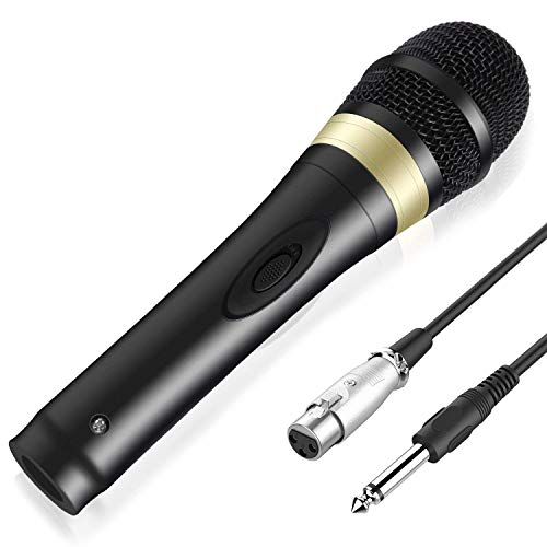 TONOR Dynamischer Mikrofon mit 16,5 Ft. Kabel für DVD/Fernsehen/KTV Audio/Reverberator/Mixer/Tourbus