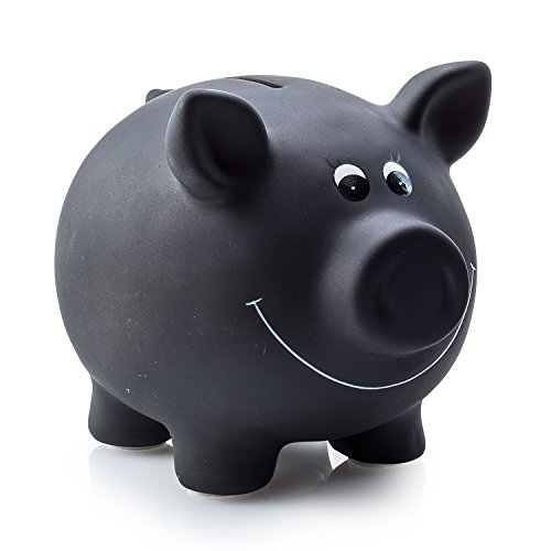 Sparschwein aus Keramik zum Beschriften, Tafellack, Kreidetafel