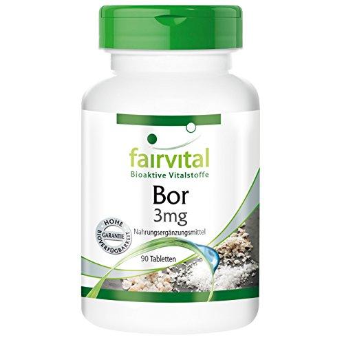 Bor 3mg, Boron, Natriumtetraborat, vegan, ohne Magnesiumstearat, Spurenelement mit beruhigenden Eigenschaften für Knochen, Gelenke und Gewebe, spricht das Immunsystem an, unterstützt das Gedächtnis