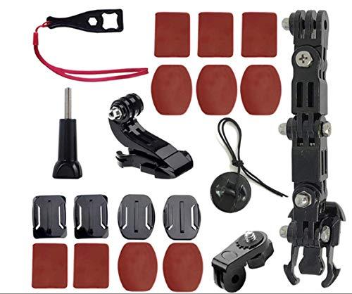 ShipeeKin Helm Halterung Motorradhelm Kinn Montage Halterung Zubehöre Helmmount kompatibel mit GoPro Hero 7/6/5/4+ 4/3, Yi Cam, SJ Cam und andere Action Cams