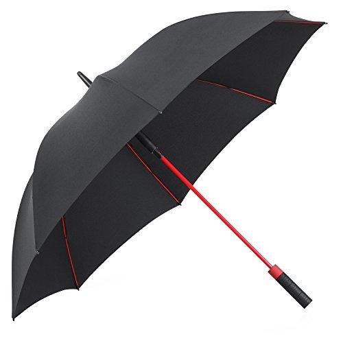 Plemo Regenschirm, Hochwertiger Stylischer Stockschirm Golfschirm Partnerschirm für zwei, 120 cm Durchmesser, Wasserabweisend