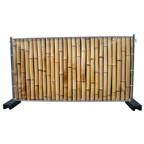 340 x 173 cm | Bambus B1 Bauzaunbanner, Sichtschutz, Werbebanner, Festival Banner