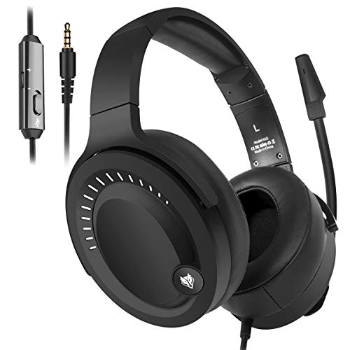 NUBWO Gaming Headset, PS4 Headset, Xbox One Headset, PC Headset, 3.5mm Surround Stereo Kopfhörer with Microphone for Nintendo Switch, PlayStaton 4, Laptop