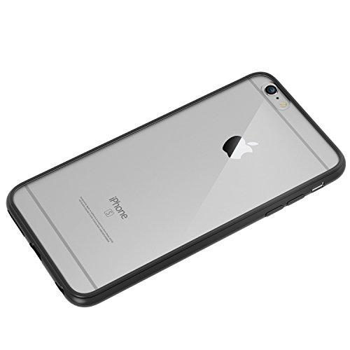 JETech Hülle für iPhone 6s iPhone 6, Schutzhülle Anti-kratzt Transparente Rückseiteülle, Schwarz
