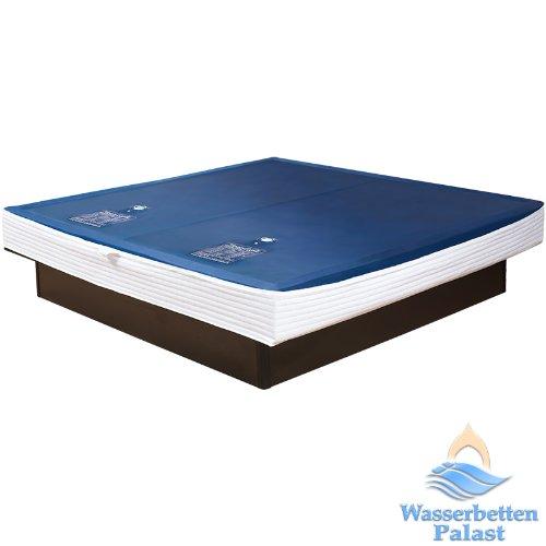 2xPremium Comfort Wasserkern inkl. Liner / Schutzfolie - Erneuerungsset für Wasserbett / Wasserbettmatratze Größe 180x200 cm Dual - Softside-Umrandung: innen keilförmig 20-23 cm - Beruhigung 90% / F6