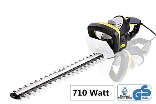 Elektro-Heckenschere 710W mit 610 mm Schnittlänge und 24 mm Zahnabstand