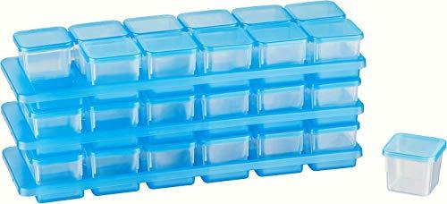 MiraHome Kigima Mini-Tiefkühldose 0,03l rechteckig 3,5x3,5x3,3 cm 3x12er Set mit je Einer Halterung
