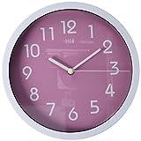 HITO modernen bunten Stille Nicht-tickende Wanduhr- 10 Zoll (rosa)