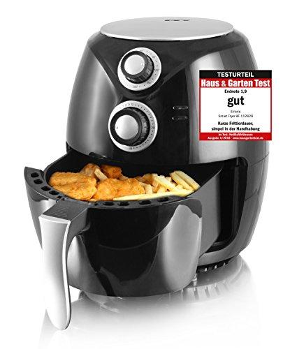Emerio Heißluftfritteuse, Airfryer, Smart Fryer, Test'GUT', Frittieren ohne Öl, 3,6 Liter Volumen, 1400 Watt, AF-112828
