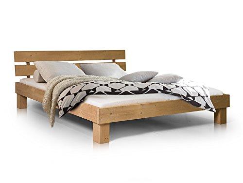 PUMBA Massivholzbett Holzbett Doppelbett Bett Futonbett Fichtenbett Doppelbett Einzelbett mit geteiltem Kopfteil, Made in Germany