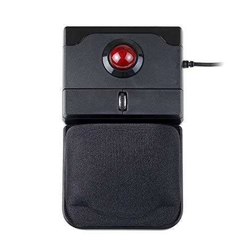 Perixx PERIPRO-506 Maus mit USB Trackball Maus - 100x80x42mm - 25mm Trackball glänzend - ablösbare Gel-Handflächenablage - Roll-Rad