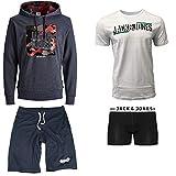 JACK & JONES Herren Sommer Box Sweat Hoodie T Shirt Trunk Boxershort Shorts Kurze Hose Sport Bermuda S M L XL XXL (M, Sommer Box 1)