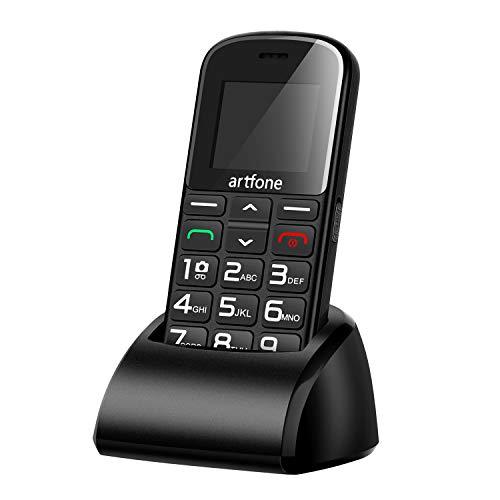 Artfone CS182 Mobiltelefon Senioren-Handy mit großen Tasten und ohne Vertrag, Mit Notruf-Knopf und 1400 mAh Akku (Inklusive Ladegerät)
