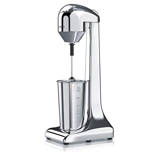 Arendo - Drink Mixer • Getränkemixer • elektrischer Standmixer • Shaker | 500 ml Becher | 100 W, 22.000 U/min, 2 Geschwindigkeitsstufen | Protein Drinks Smoothies Eischnee Milchshakes Cocktails | GS