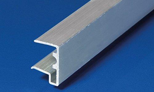 Alu-U-Abschlussprofil 16 mm silber 980 mm länge mit Tropfnase für Stegplatten