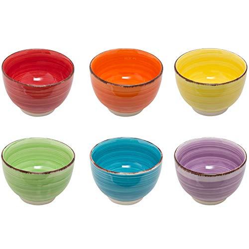 esto24 Design 6er Set Müslischalen Dessertschale 750ml Porzellan in Tollen Farben - Das Highlight auf Jedem Tisch