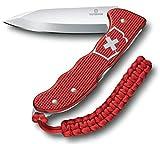 Victorinox Taschenmesser Hunter Pro Alox, Scharf, Extra starke Feststellklinge, Gürtel-Clip, Rot