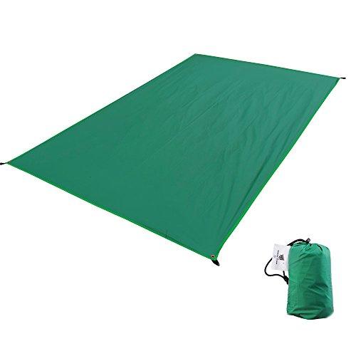 GEERTOP Zeltböden Schutzplane Zeltplanen Zeltunterlage 2 Personen (190g) 20D Ultraleichte Wasserdichte Für Zelt Wanderungen Camping Picknick (Grün, L (210x130cm))