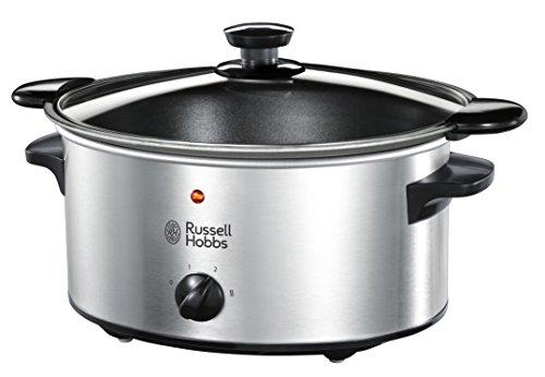 Russell Hobbs Cook@Home Schongarer 22740-56 / Elektrischer Slow Cooker zum schonenden Garen von Gerichten mit 3 Temperatureinstellungen / 3,5L, 160W