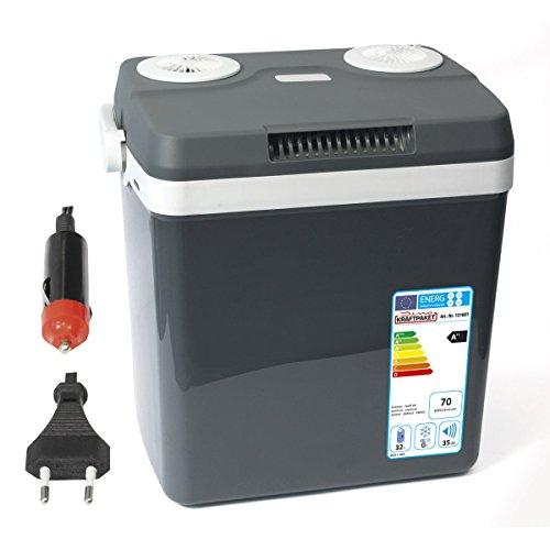 Dino KRAFTPAKET Kühlbox 12V 230V (WÄRMT & KÜHLT) HÖHE: 44cm Elektrische Kühlbox Warmhaltebox Thermoelektrische Thermobox für Auto Boot Camping,  A++ mit ECO-Modus