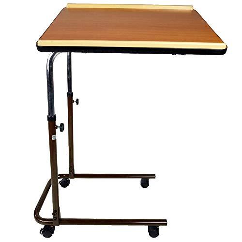 Multifunktion Beistelltisch   Holz   Höhenverstellbar und schwenkbar Rolltisch   Extra-leichter Tisch  kleiner und klappbarer Tisch   Schlafszimmer- und Wohnzimmertisch   Sierra   Mobiclinic