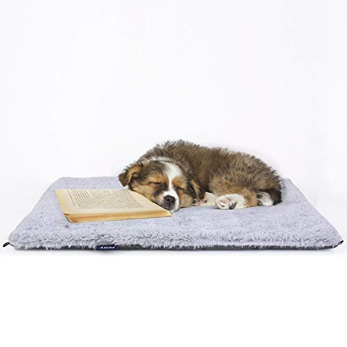 Pedy 2 in 1 Hundematte Katzendecke Hunde-und Katzenbett - Flauschig, Weich u. Waschbar Faltbar für Katzen und kleine mittlere Hunde Grau