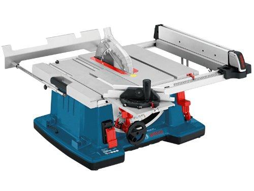 Bosch Professional Tischkreissäge GTS 10 XC (Sägeblatt, Absaugadapter, Parallelanschlag, Winkelanschlag, Sägeblatt-Ø: 254 mm, Sägeblattbohrungs-Ø: 30 mm, 2100 Watt)