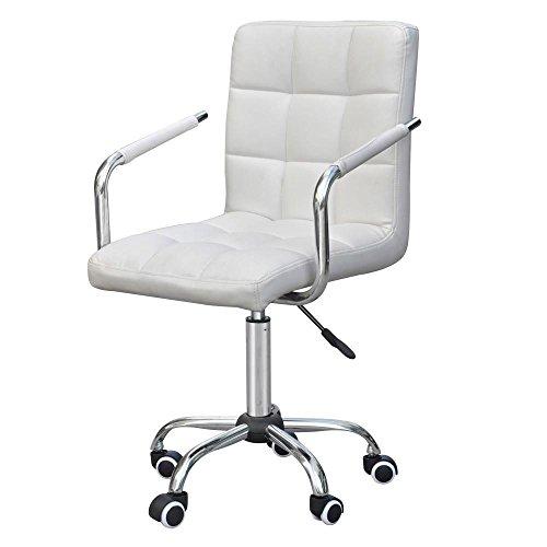 Yahee Bürostuhl Drehstuhl Schreibtischstuhl Hocker Weiß