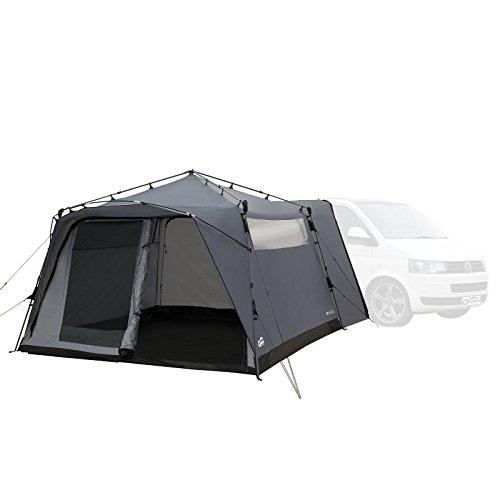 Qeedo Busvorzelt Quick Motor, Freistehendes Campingzelt als Anbau an Ihr Campingmobil, Camper, Sekundenschnell Aufgebaut - grau