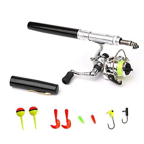 VCB 1,4 m Tragbare Pen Angelrute Pen Pole Mini Pen Angelrute Kleine Sea Otter - Schwarz