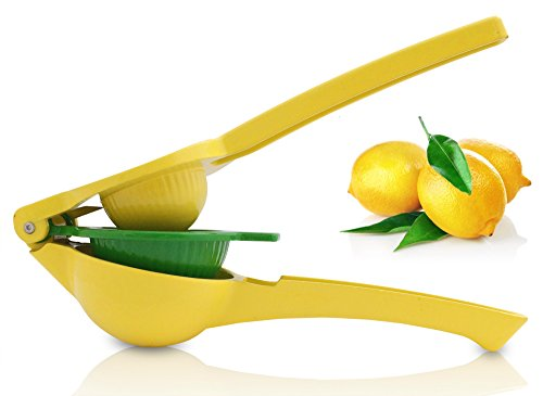 Rummershof Zitronenpresse manuell: Limettenpresse - Orangenpresse - Zitruspresse 3-in-1 (gelb grün)