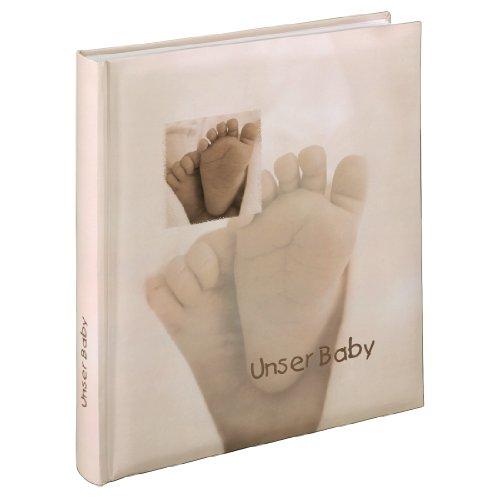 Hama Babyalbum Baby Feel (Fotoalbum mit 29 x 32 cm, 60 Seiten, 60 Blatt, 300 Fotos) sand