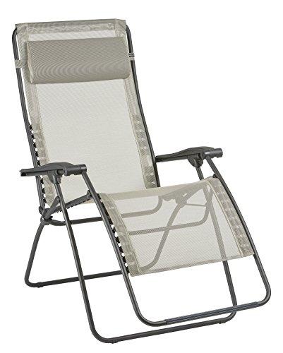 Lafuma Großer Relax-Liegestuhl, Klappbar und verstellbar, RSXA Clip XL, Batyline, Seigle (Beige), LFM2040-8548