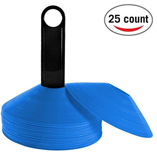 Reehut Markierungshütchen Agilität Markierungsteller Set Kunststoffhalter - Markierungskegel für Ballspiel, Radsport, Kinder, Sportler Hütchen Dome Mini Trainingskegel