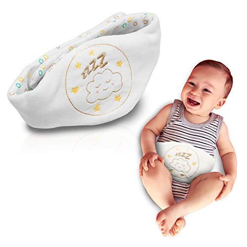 Babyjem Kirschkernkissen - Größenverstellbarer Wärmekissen für Babys - Für die Mikrowelle und ideal Geeignet bei Bauchschmerzen und Blähungen - Körnerkissen und Dinkelkissen aus 100% Baumwolle