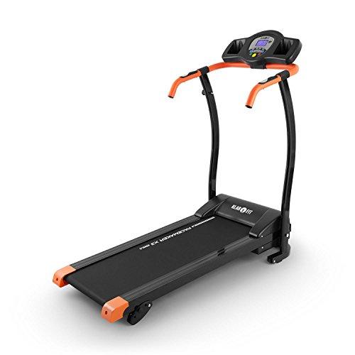 Klarfit Pacemaker X3 Laufband • Heimtrainer • Hometrainer • 1,5 PS • Geschwindigkeit: 0,8 - 12 km/h • Trainingscomputer • LCD-Display • 12 Programme • Pulsmesser • Neigungswinkel: 3 %, 5 % oder 7 % Gefälle • zusammenklappbar • schwarz-orange
