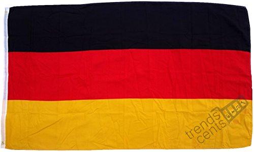 Top Qualität - Flagge DEutschland Fahne, 250 x 150 cm, extrem reißfest, Keine Billig-Chinaware, Stoffgewicht ca. 100 g/m², sehr robust, extra starke Messing-Ösen