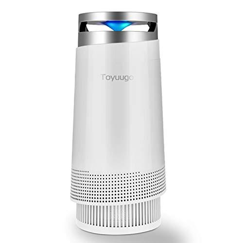 Luftreiniger, Toyuugo Anion air Purifier HEPA-Filter(99,97% Filterleistung) mit Aktivkohlefilter mit LED Nacht Light für Allergiker und Raucher