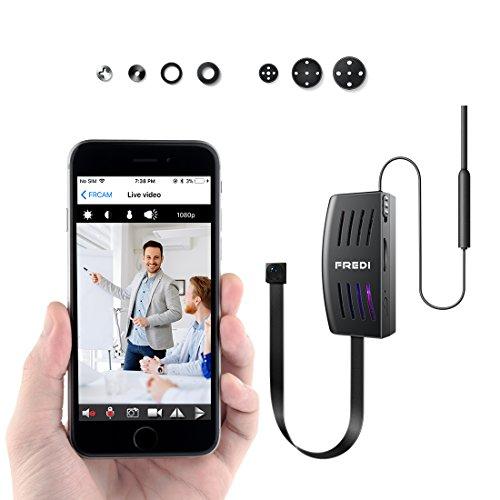 Mini Kamera,FREDI HD 1080P Überwachungskamera und Bewegungserkennung Bluetooth P2P mit Bewegungsmelder/Mikrofon